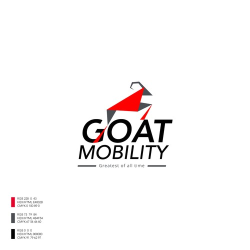 Mobility logo with the title 'Energetic and fresh logo concept for Goat Mobility'