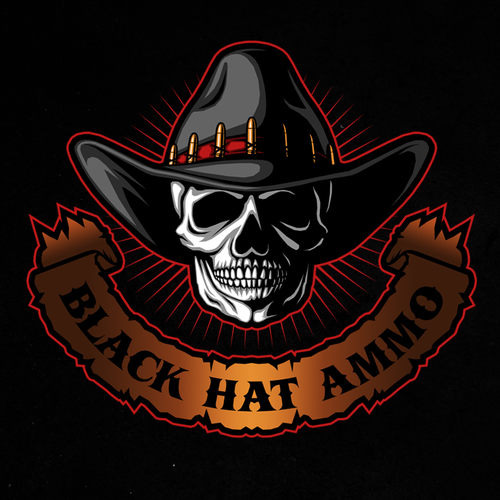 Commando logo with the title 'Logo design for Black Hat Ammo'