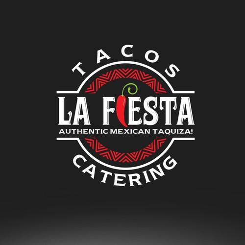 Taqueria logo with the title 'Tacos La Fiesta '