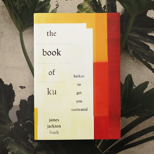 Poetry design with the title 'The Book of Ku'
