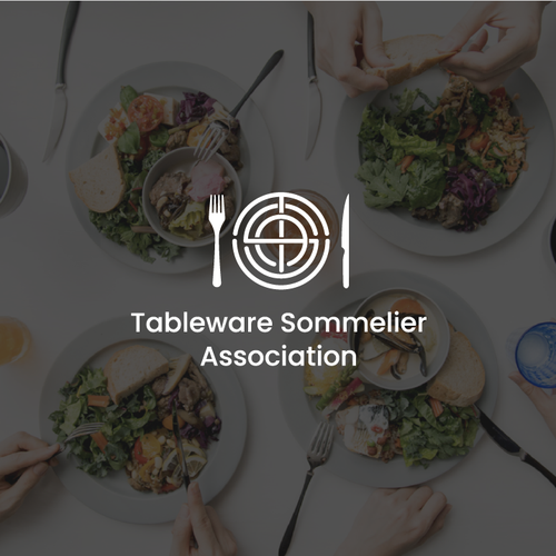 Tableware design with the title 'Tableware Sommelier Association'
