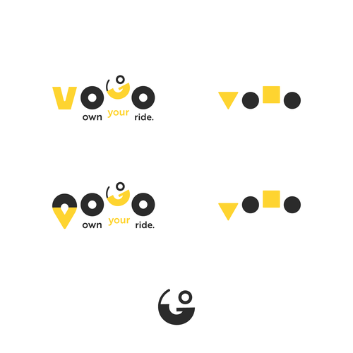 Scooter logo with the title 'VOGO logo'