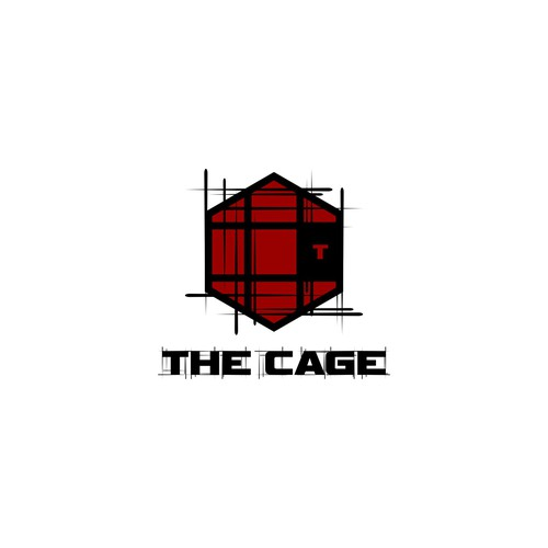 Martial arts logo with the title 'Create an illustration of a challenging fight cage'