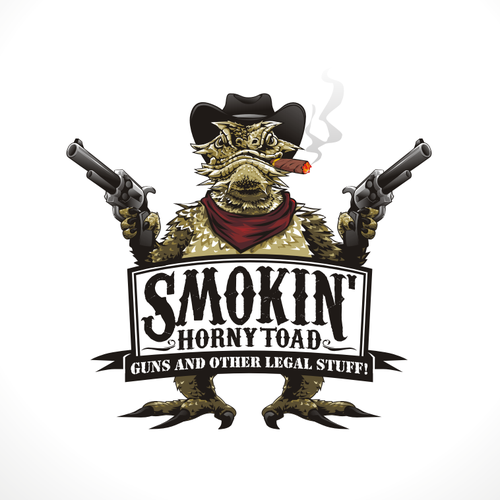 Hat logo with the title 'Smokin' Horny Toad'