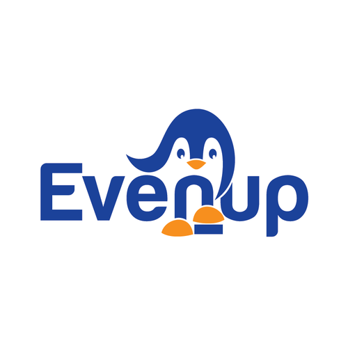 Penguin logo with the title 'Create the next logo for Evenup'