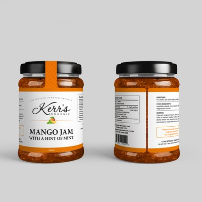 JAMS CHUTNEYS & RELISHES JAR BOTTLE LABEL