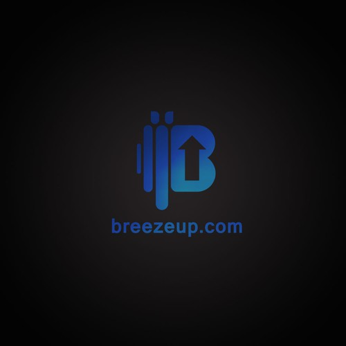 Impressive logo with the title 'simple and abstract logo for breezeup'