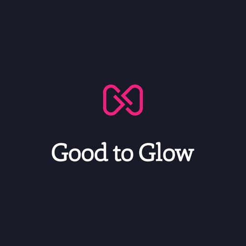 Bow tie design with the title 'Good to Glow Logo'