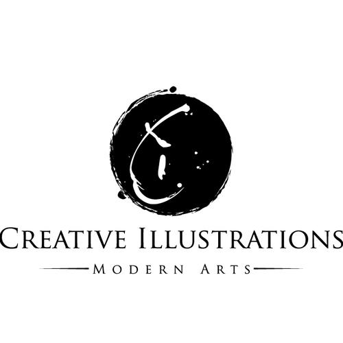 Conceptual logo with the title 'modern art logo'