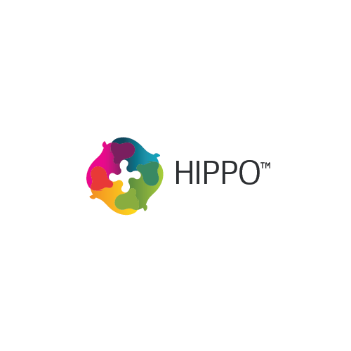 """Hippo logo with the title 'Logo for mobile app - """"Hippo""""'"""