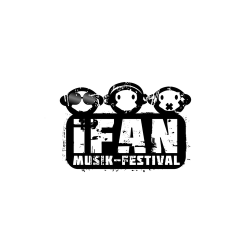 Music festival logo with the title 'Music Festival Hosted By 3 DJs'