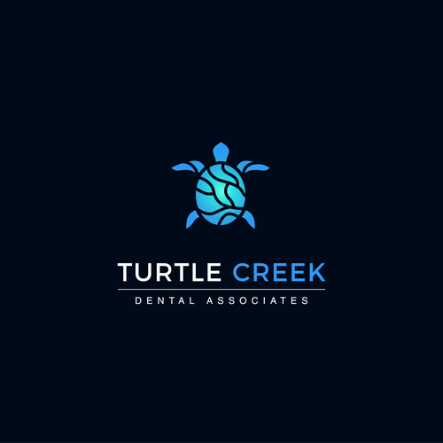 Tortoise logo with the title 'Logo design for Turtle Creek'