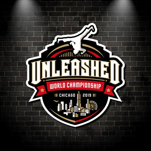 Championship design with the title 'Unleashed World Championship (logo)'