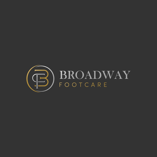 Leg logo with the title 'Sophisticated and luxury logo concept Broasway Footcare'