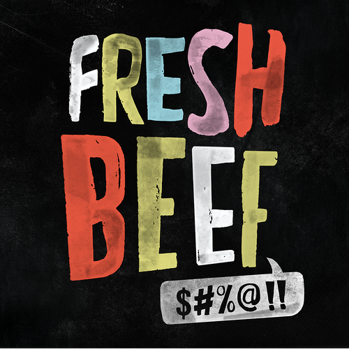 Internet design with the title 'Fresh Beef'