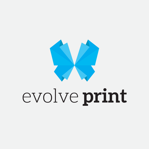 Origami logo with the title 'Clean and contemporary logo for a digital print company'