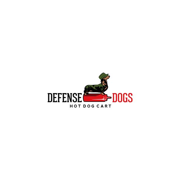 Dachshund logo with the title 'Illustrative logo for hot dog cart'