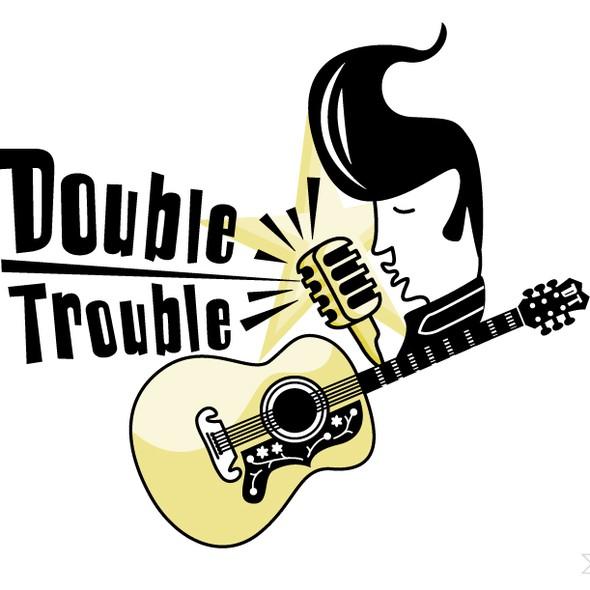 Rock music logo with the title 'Elvis doo doo doo ♫ Logo'