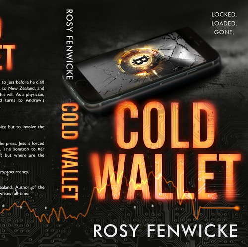 Cryptocurrency design with the title 'Cold Wallet'