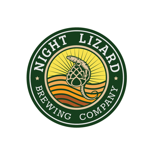 Salamander logo with the title 'Night Lizard Brewing Company'