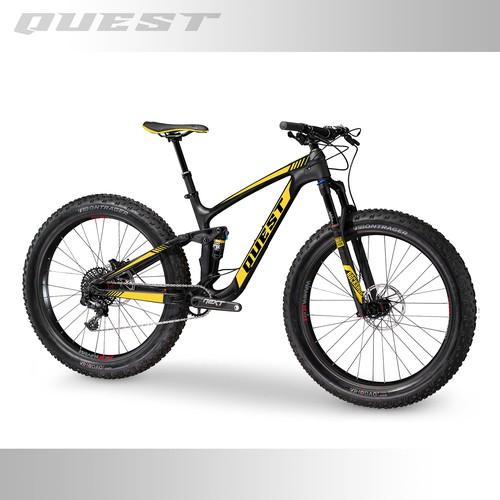 Mountain bike design with the title 'Bike Design'