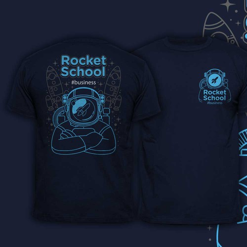 Astronaut design with the title 'Astronaut rocket school'