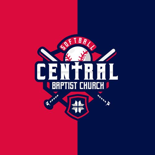 Baptist logo with the title 'Central Baptist Church Softball'