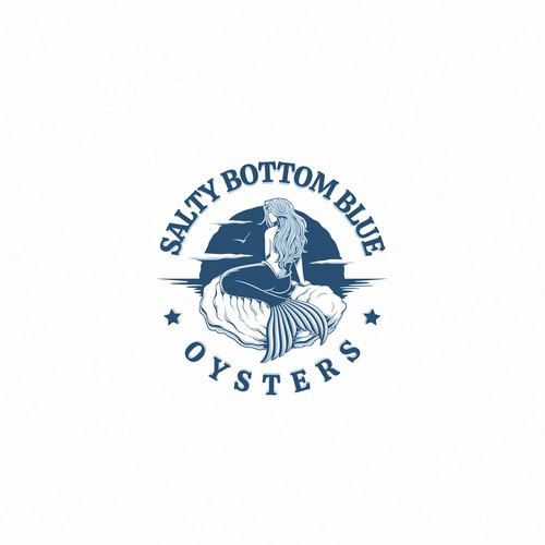 Daughter logo with the title 'Eye catching logo for Salty Bottom Blue Oysters'