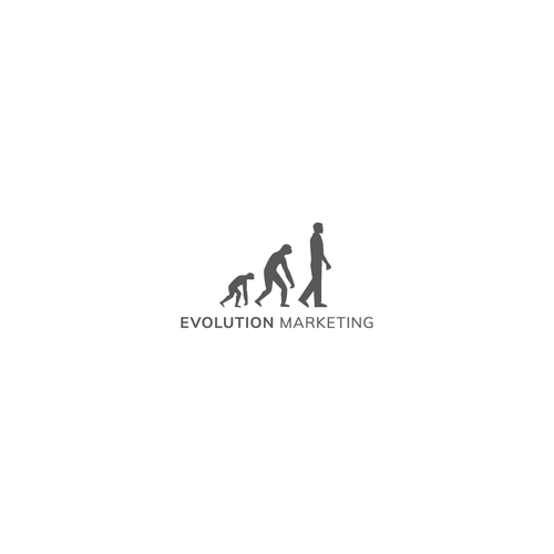White and gray design with the title 'R-evolutionary logo'