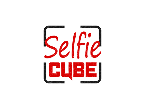 Photobooth logo with the title 'Selfie Cube Logo'