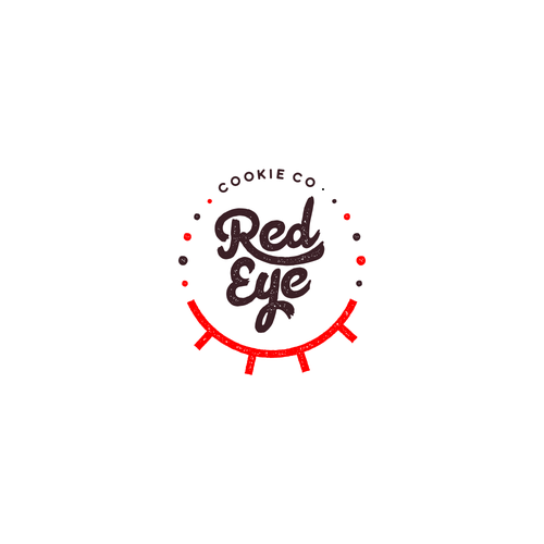 Tasty logo with the title 'Logo concept for Red Eye. Cookie Co.'