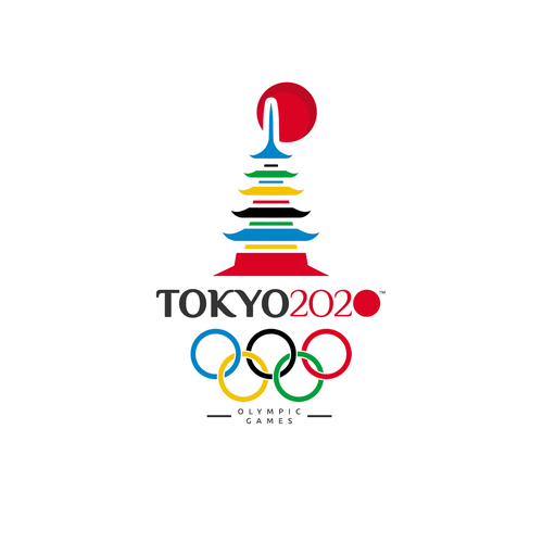 Five design with the title 'Tokyo 2020 OLYMPIC GAMES logo !!'