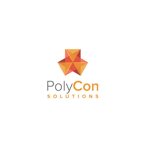 Polygon design with the title 'Logo and business card for a Govement Consulting Company'