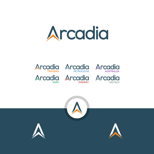 Letter A logo with the title 'Arcadia '
