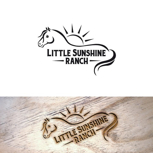 Ranch logo with the title 'Logo for pony-riding ranch for children'