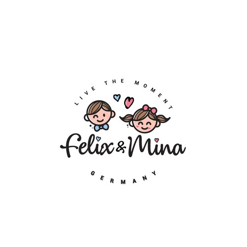 Smile logo with the title 'Logo Design for kids clothing company'