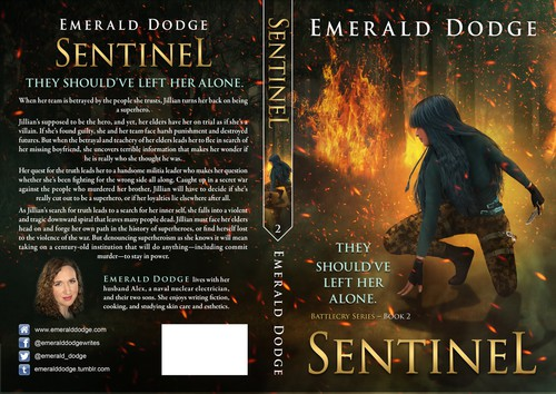 Fire book cover with the title 'SENTINEL – Sequel to Battlecry '