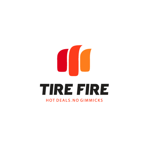 Wheel logo with the title 'Logo for Tire Fire'