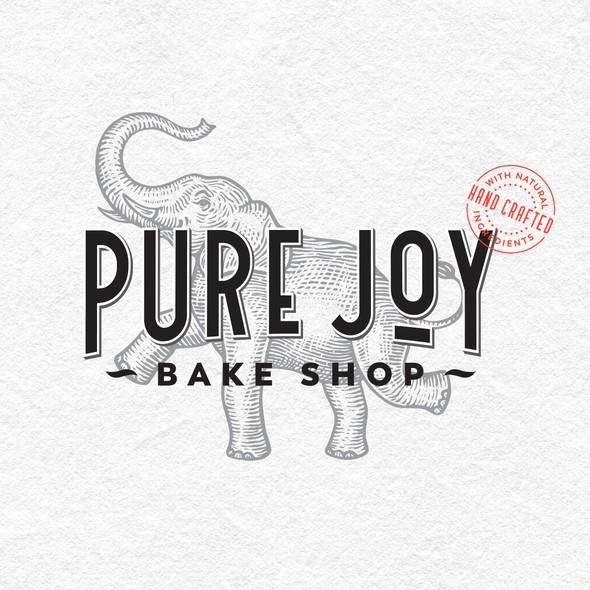 Jar design with the title 'Logo and labels for Bake Shop'