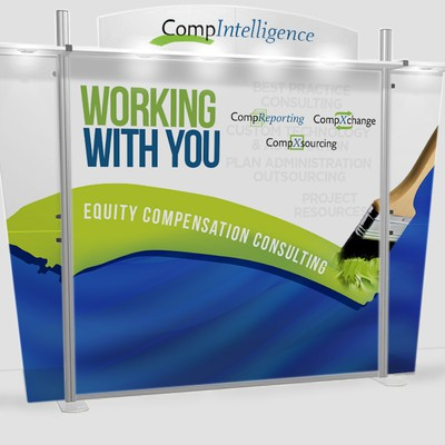 Trade show booth backdrop for CompIntelligence