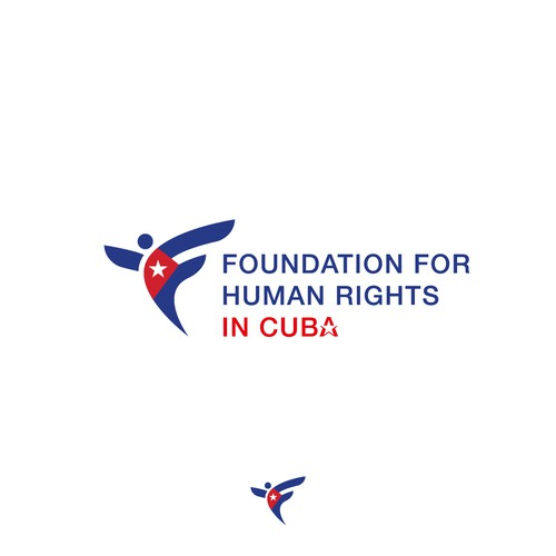 Cuba design with the title 'Logo concept for foundation for human rights in Cuba'