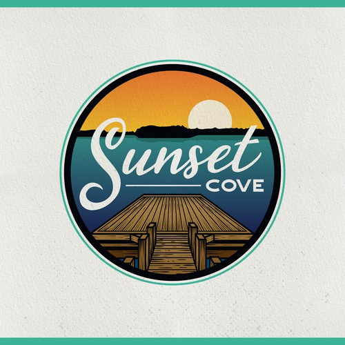 Scenery logo with the title 'Sunset Cove'