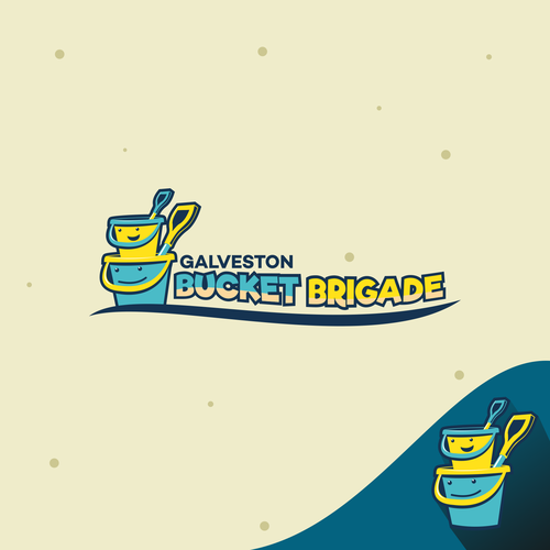 Sand logo with the title 'Bucket Brigade'