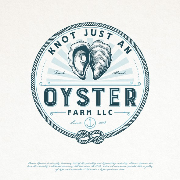 Seafood brand with the title 'OYSTER FARM LOGO DESIGN'