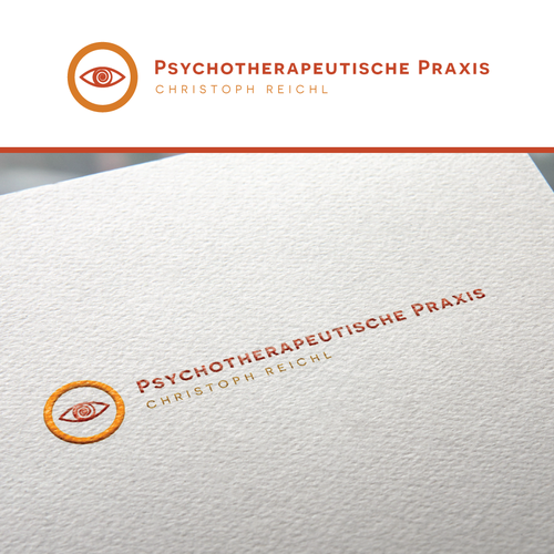 Mental health design with the title 'Psychotherapeutische Praxis'