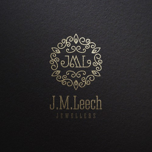 Upscale logo with the title 'J.M.Leech Jewellers Logo Proposal'
