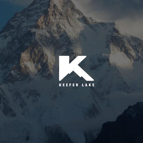 K logo with the title 'Keefer Lake - ski company logo'