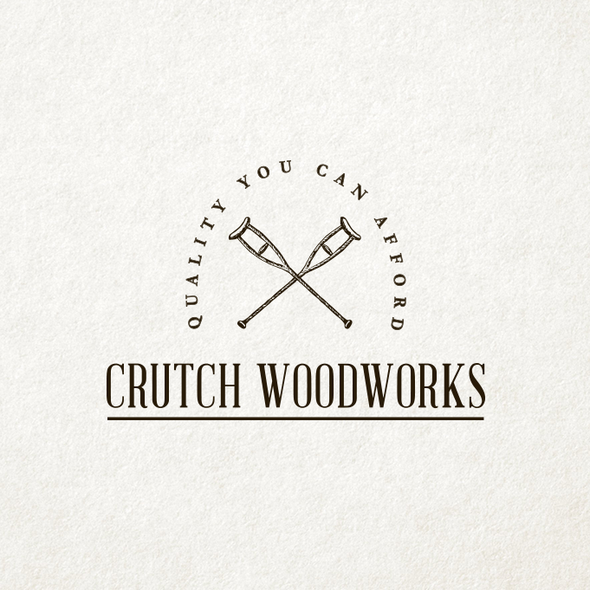 Handmade design with the title 'Vintage and Classic Logo Design for Hand Made Wood Products'