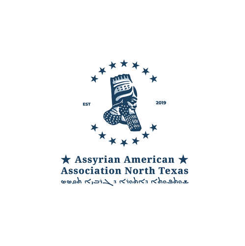 Monument logo with the title 'Assyrian American Association of North Texas'
