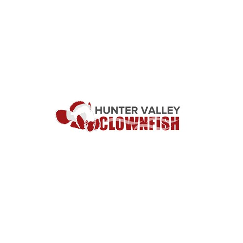 Aquarium logo with the title 'Hunter Valley Clownfish'